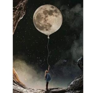 A Holdat a kezemben tartom – VIDEÓS festés