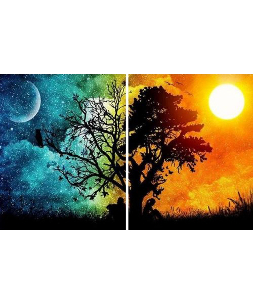 Nappal és éjszaka - YourArt Élményfestő Stúdió