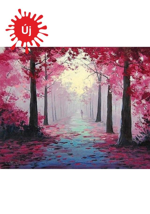 Rózsaszín ködös erdő - YourArt - Otthoni élményfestő szett