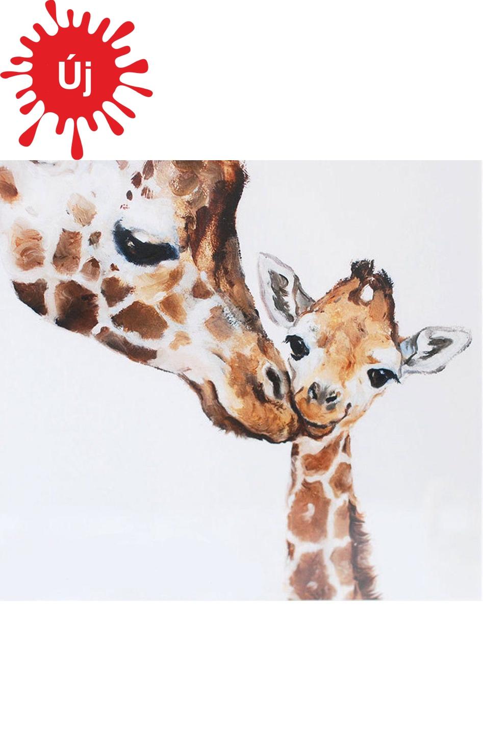 Zsiráf mama a gyermekével - YourArt - Otthoni élményfestő szett