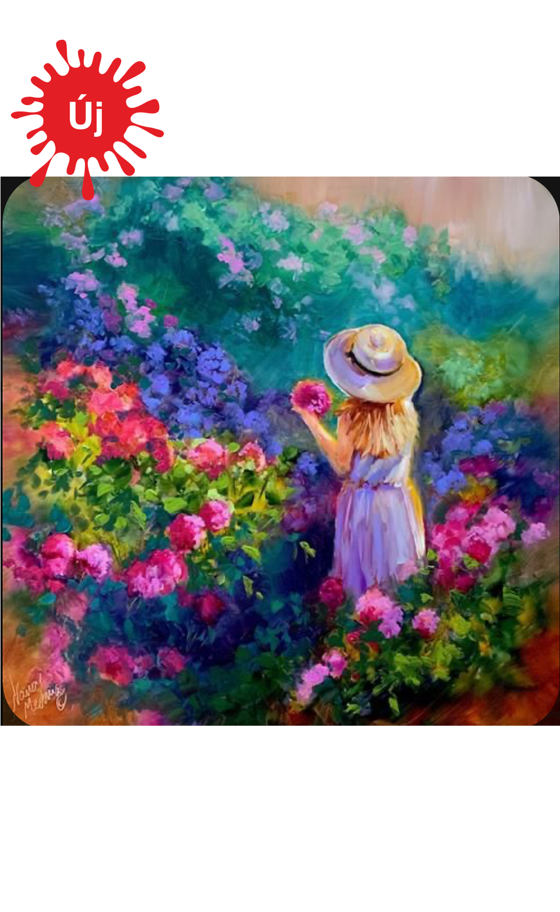 Kislány a színes virágokkal - YourArt - Otthoni élményfestő szett