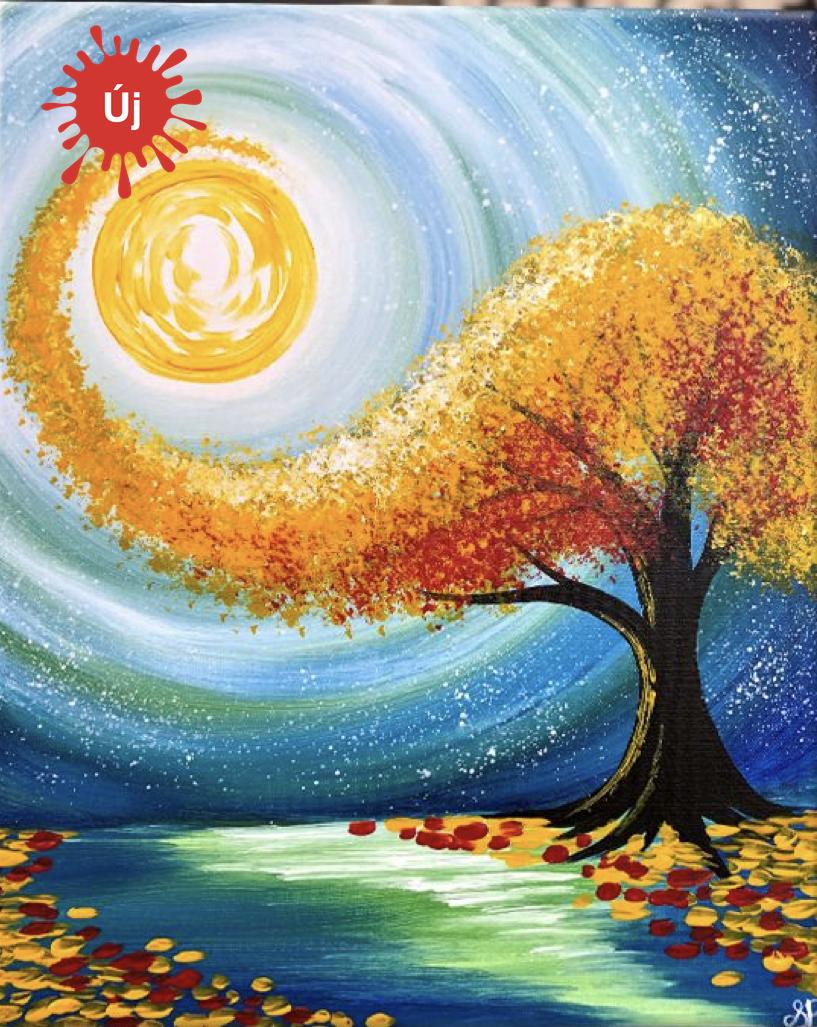 Sárga pöttyözős fa - YourArt - Otthoni élményfestő szett