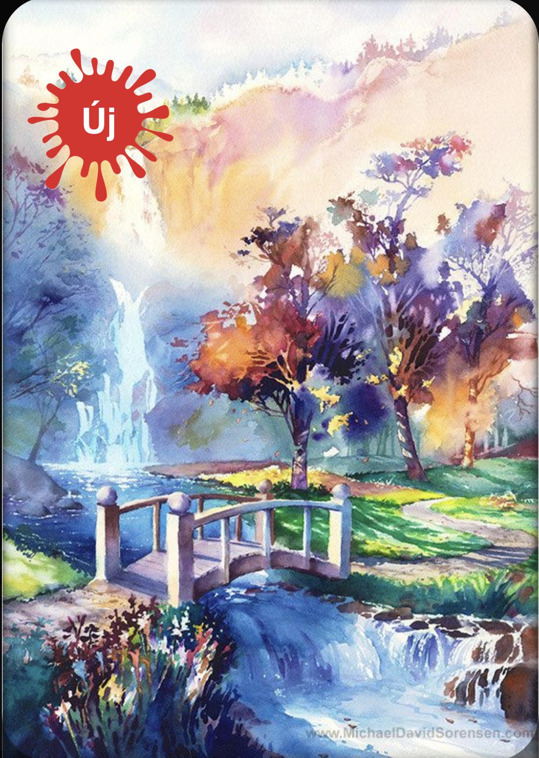 YourArt - Színes táj - kis híddal - Otthoni élményfestő szett