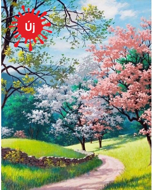 Virágzó fák a tájban - YourArt - Otthoni élményfestő szett