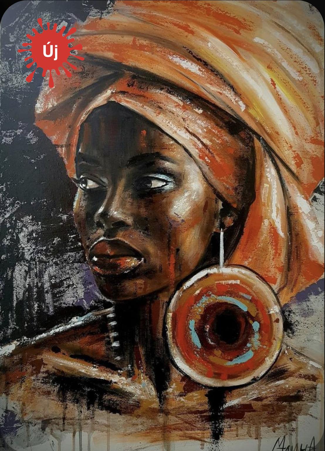 Turbános nő nagy fülbevalóval - YourArt - Otthoni élményfestő szett