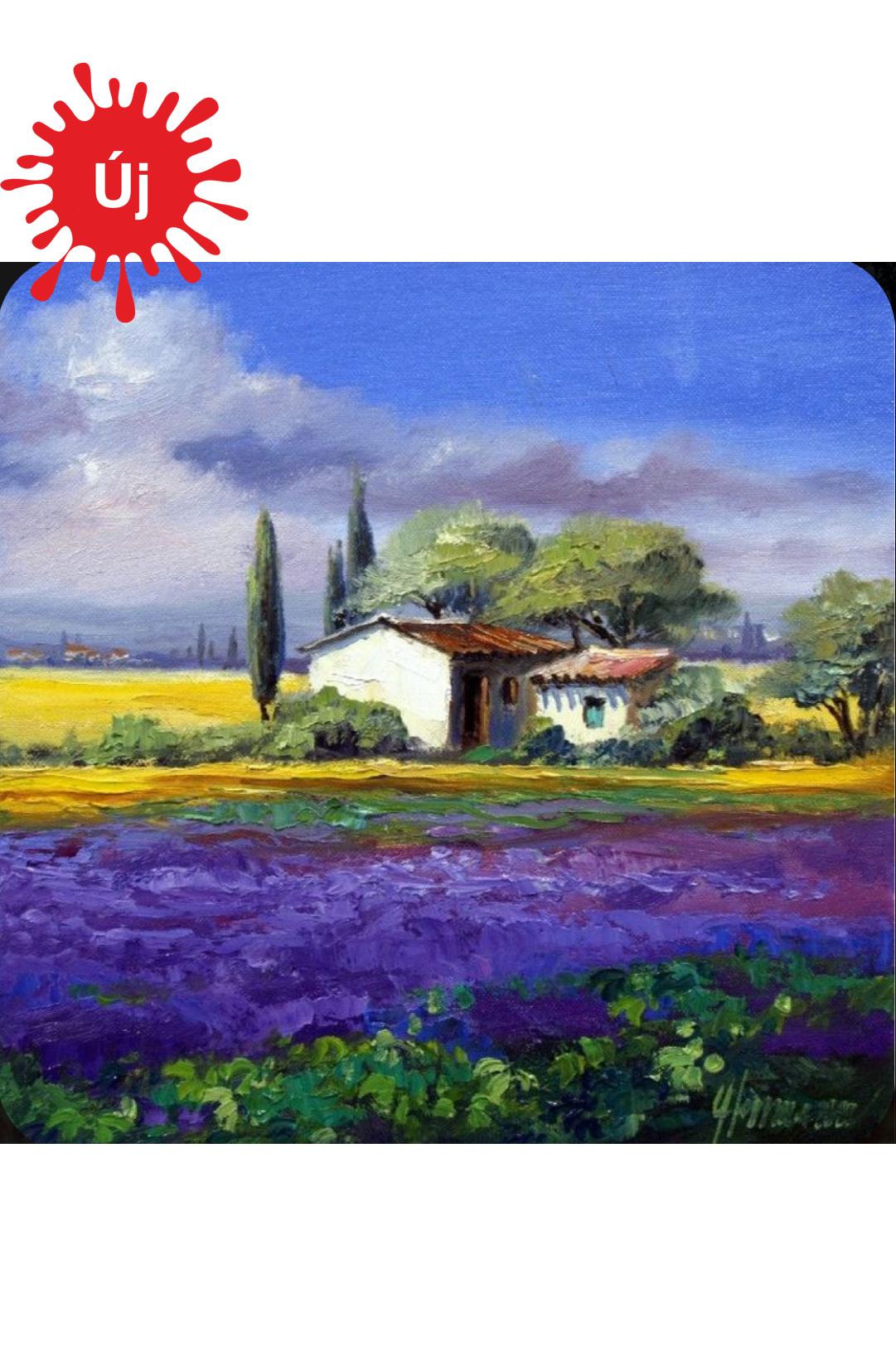 Levendulamező a házikóval - YourArt - Otthoni élményfestő szett