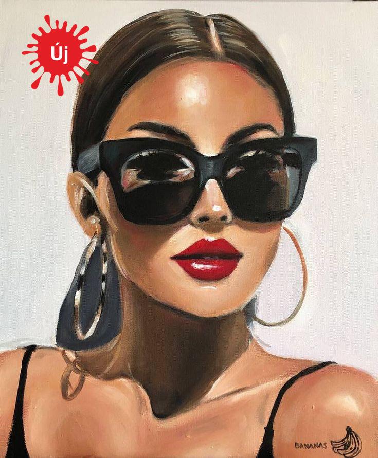Nő a napszemüveggel - YourArt - Otthoni élményfestő szett