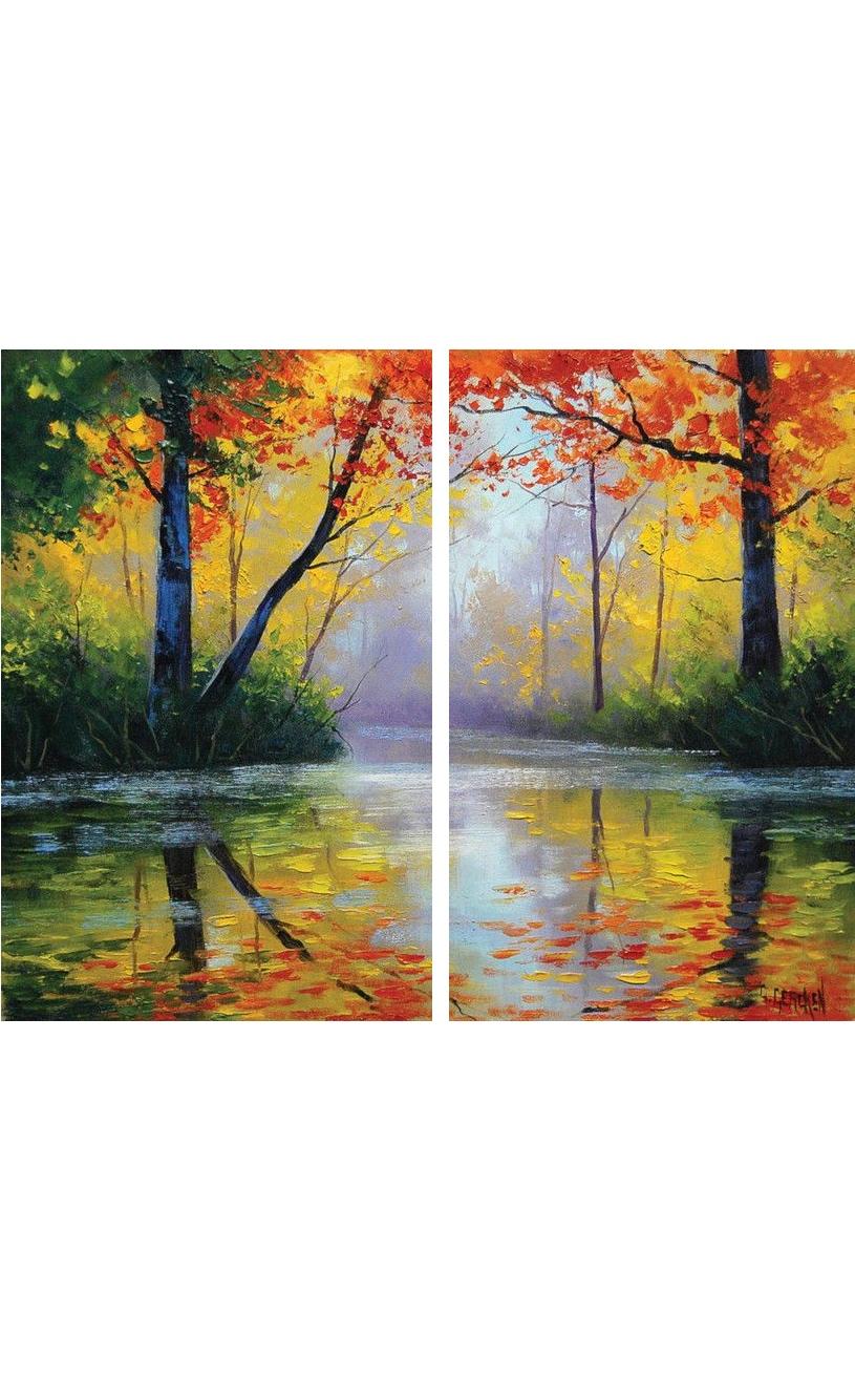 Őszi erdő - YourArt Élményfestő Stúdió