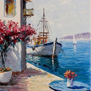 Ismeretlen festő - Görögországi kikötő