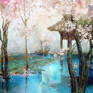 Virágzó-cseresznyefák