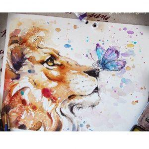 oroszlán pillangóval